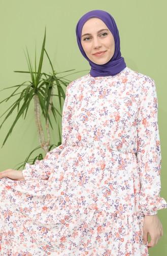 Ecru İslamitische Jurk 5320-02