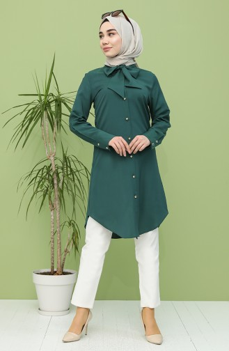 Smaragdgrün Tunikas 5003-03