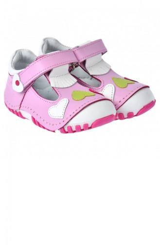 Kiko Kids Teo 105 100 Deri Orto Pedik Cırtlı Kız Çocuk Ayakkabı Pudra