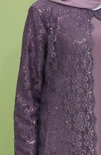 Dusty Rose İslamitische Avondjurk 3293-02