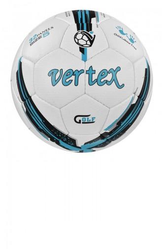 Vertex Golf Dikişli 5 No Futbol Topu Beyazmavi