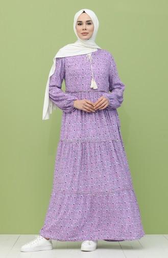 Violet Hijab Dress 21Y8244-02