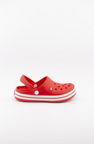 Red Summer slippers 3459.MM KIRMIZI-BEYAZ-KIRMIZI