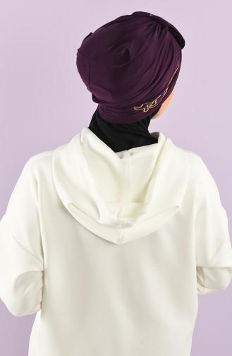 Plum Ready to Wear Turban 9021-03