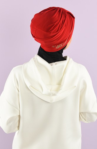 Red Ready to wear Turban 9021-06