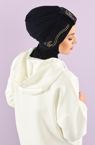 Navy Blue Ready to wear Turban 9021-11
