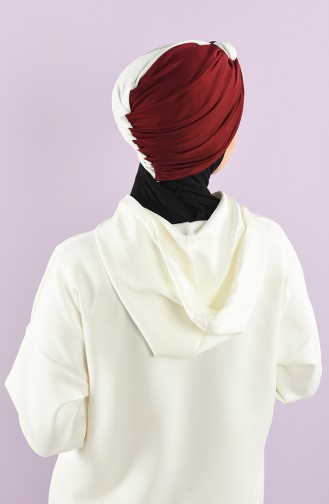 Claret red Ready to wear Turban 9022-05