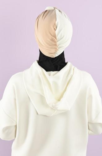 Beige Ready to wear Turban 9022-07