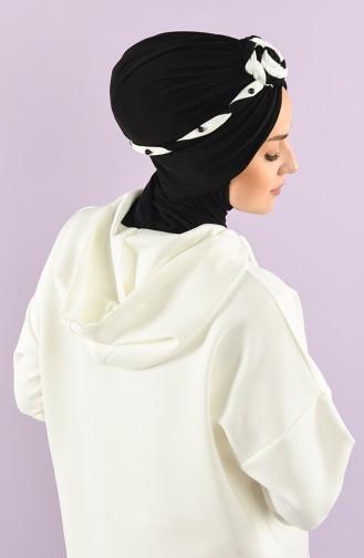 Black Ready to wear Turban 9027-05