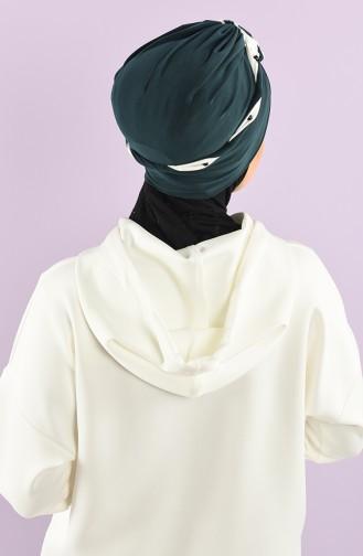 Emerald Green Ready to Wear Turban 9027-08