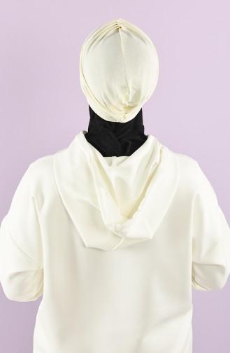 Schmutzig Weiß Praktischer Turban 9028-12