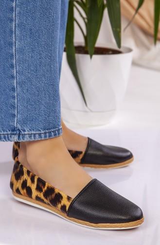 Bayan Günlük Ayakkabı D301-02 Taba Leopar 301-02