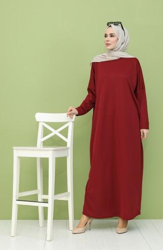فستان أحمر كلاريت 5555-03