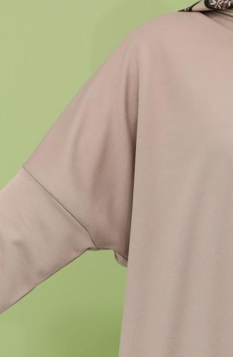 فستان بني مائل للرمادي 5555-04