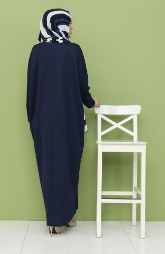 فستان أزرق كحلي 5555-05