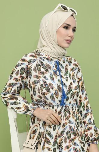 Beige Hijap Kleider 21Y8244A-02