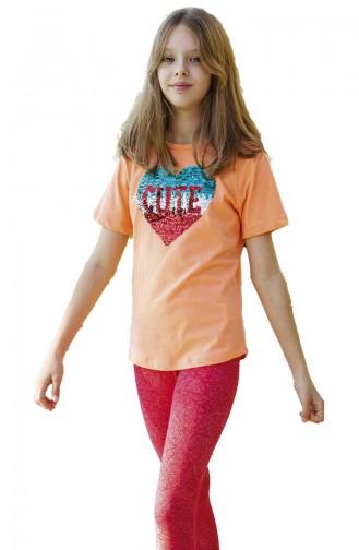 Orange Baby und Kinder Anzüge 3566-03
