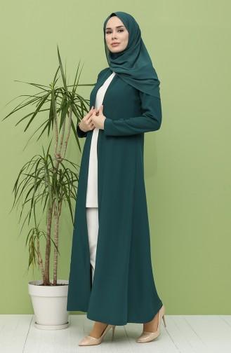 Abayas Vert emeraude 1017-04