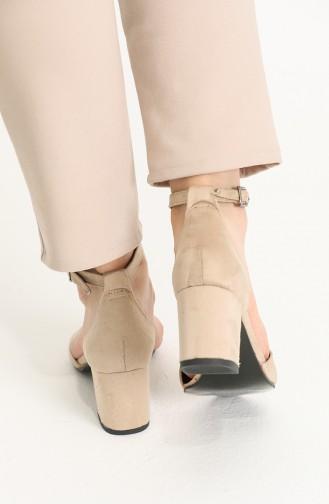 أحذية الكعب العالي لون البشرة 9111-08