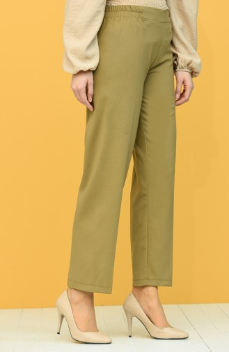 Elastic Waist Trousers 1983-18 Milk Brown 1983B-02