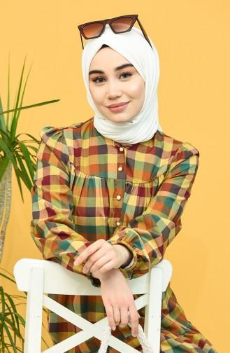 Khaki Hijab Dress 5305-02