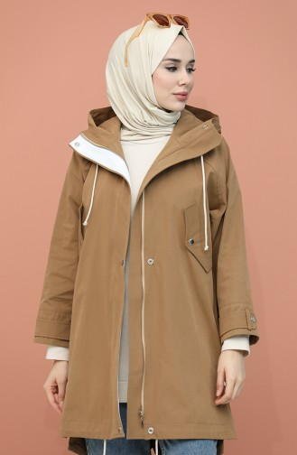 Tobacco Brown Trench Coats Models 0115-01