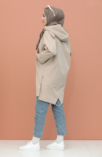Beige Trench Coats Models 0115-02