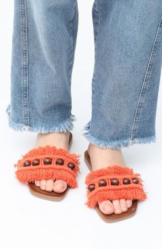Orange Summer slippers 03-01