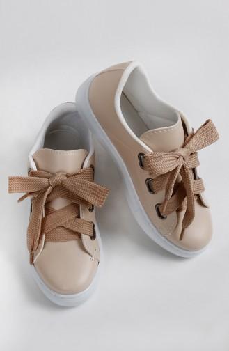 Beige Sport Shoes 0300-04