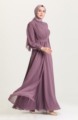 Habillé Hijab Lila Foncé 4858-01