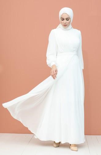 Habillé Hijab Ecru 4858-04