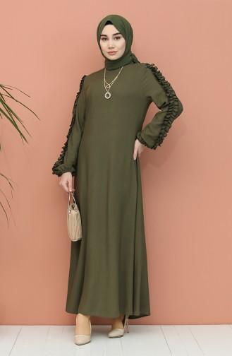Green Hijab Dress 7004-03