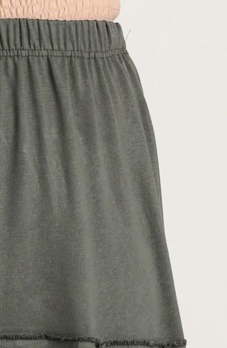 Khaki Skirt 8249-04