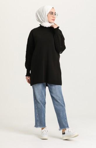 Schwarz Pullover 4290-02