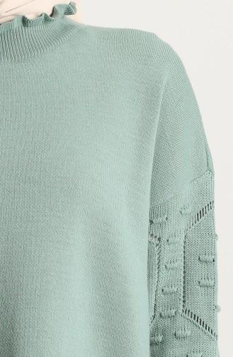 Unreife Mandelgrün Pullover 4290-04