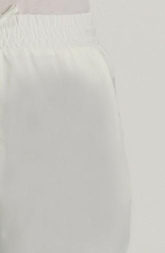 Beli lastikli Cepli Pantolon 0152-05 Ekru