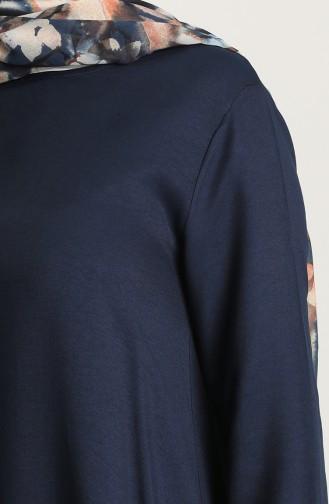 Asimetrik Tunik Pantolon İkili Takım 4220-03 Lacivert 4220-03