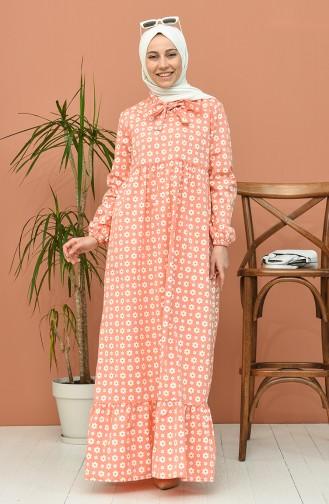 فستان برتقالي 1448-06