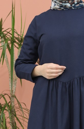 فستان أزرق كحلي 3259-01