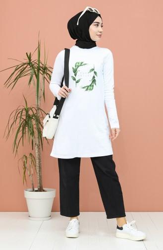 Printed Tunic 6021-03 white 6021-03