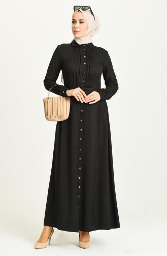 Black Hijab Dress 3252-01