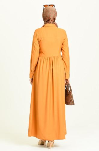 Mustard Hijab Dress 3252-05