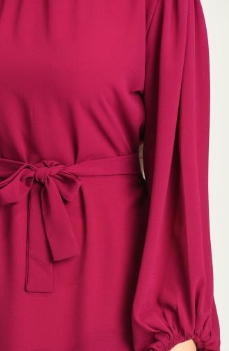 Fuchsia Hijab Dress 3254-01