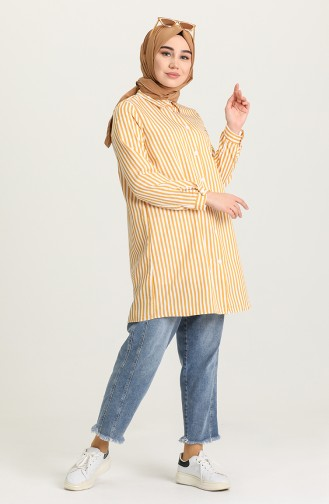 Yellow Overhemdblouse 5356-01