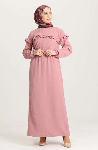 Dusty Rose Hijab Dress 0609-02