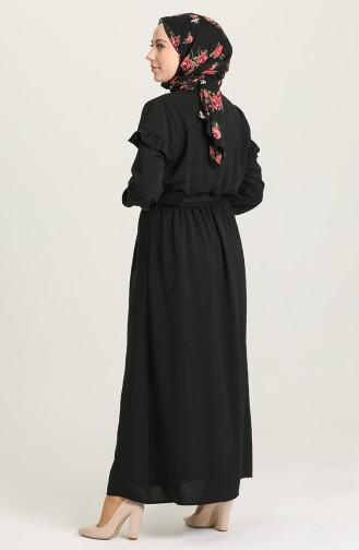 Black Hijab Dress 0609-06