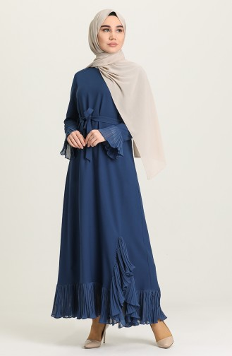 فستان نيلي 4125-03