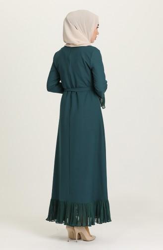 فستان أخضر زمردي 4125-04