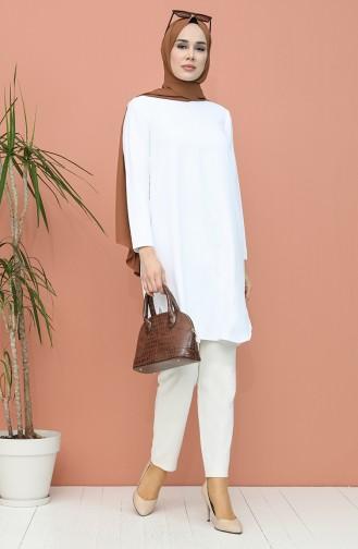 Basic Tunik 2122A-01 Beyaz