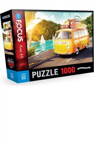 Blue Focus 1000 Parça Puzzle Retro Minibus 8681176322923
